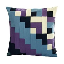 Black Temptation [Two Roads] Handmade Canvas Decorative Pillow Unique Grid Cushi - $38.50