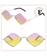 SAINT LAURENT LISA YSL SL302 005 Silver Pink Diamond Sunglasses 302 New ... - $289.58