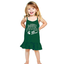 NCAA Michigan State Spartans Girls Infant Strappy Dress, Green, 6-12 Months - $9.41