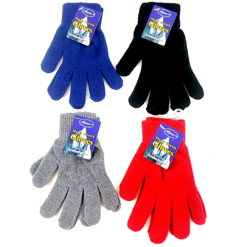 Case of [48] Women's Stretch Magic Gloves - Assorted Colors