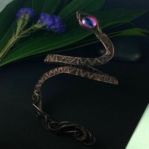 Alana Snake Arm Bracelet with Pink and Blue Eye - $63.36