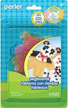 Perler Beads for Kids Crafts Clear Pegboards Fun Shapes, 4pc. - $10.77