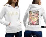 Queen band freddie mercury  hoodie classic women white thumb155 crop