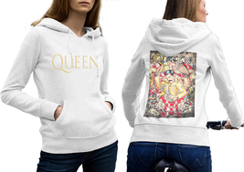 Queen Band Freddie Mercury  Hoodie Classic Women White - $35.99