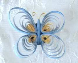 Personalized Handcrafted Paper Quill Tri Colored Butterfly  - $14.99
