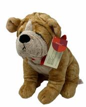"Russ Berrie Thurber Plush Sharpei Bulldog Puppy Dog w/ Red Bandanna 9"" S... - $15.00"