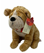 "Russ Berrie Thurber Plush Sharpei Bulldog Puppy Dog w/ Red Bandanna 9"" Soft Toy - $15.00"