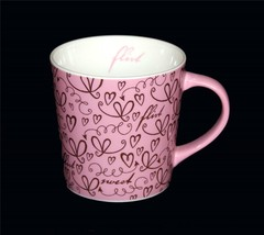 2006 Large Starbucks Flirt Sweet Floating Hearts Pink Brown 17 Oz Mug - $18.99