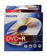 Philips DR4S6B10B/17 4.7GB 16x DVD+Rs, 10-pk Peggable Box - $19.63