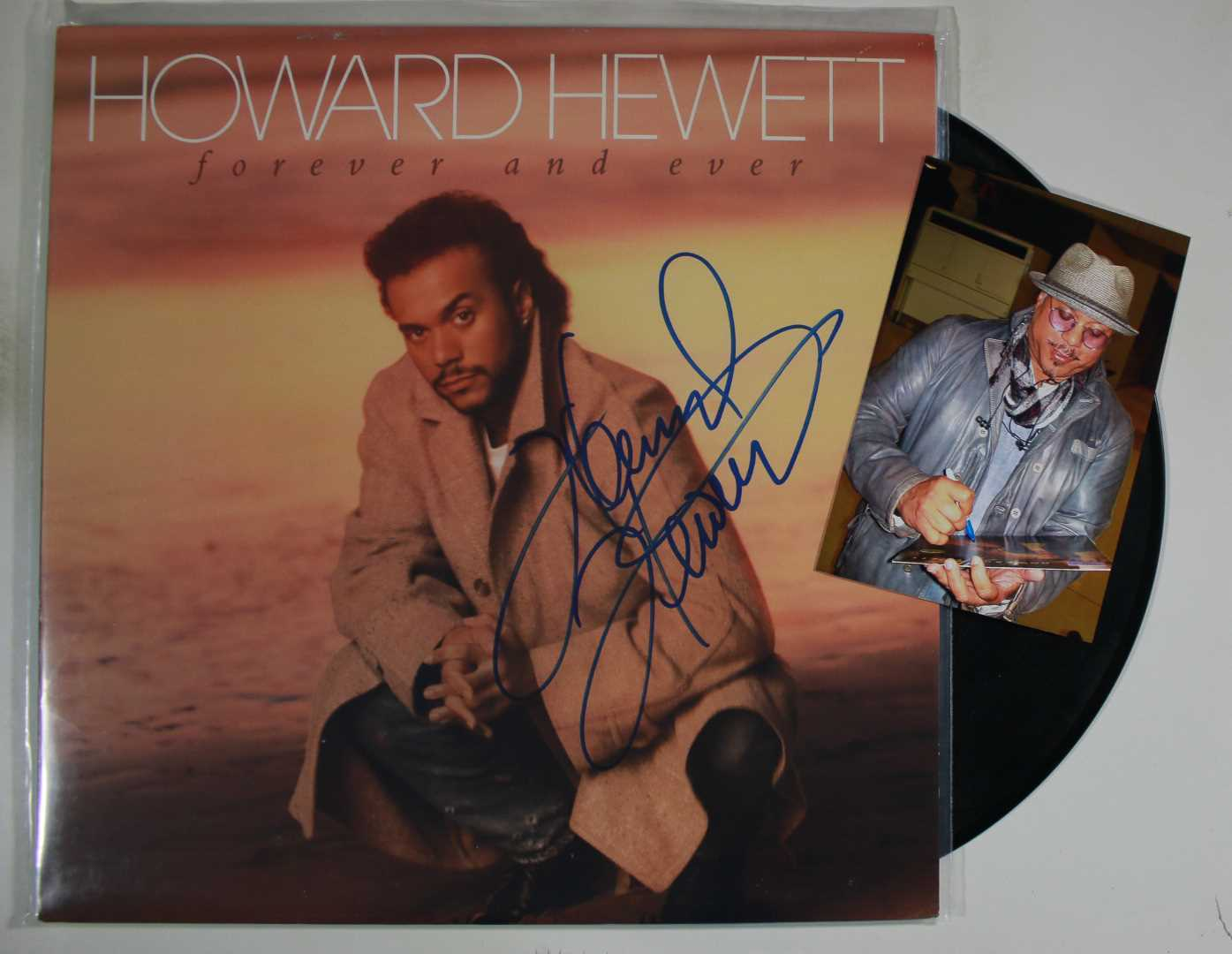 Primary image for Howard Hewett Signed Autographed Record Album w/ Proof Photo