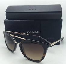 New PRADA Sunglasses SPR 13Q 2AU-6S1 54-20 Tortoise & Gold Brown Gradient Lenses