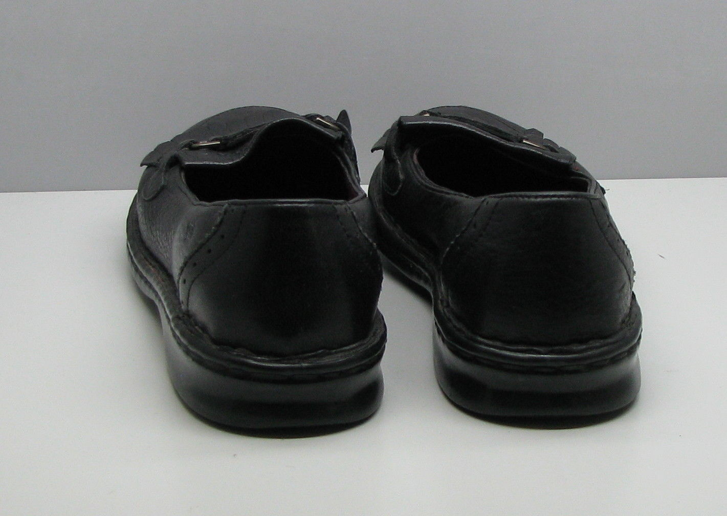 Born Black Leather SHOES Woman's 7 / 38 Loafers Tassel Flats