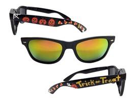 Black Halloween Sunglasses w/ Spider Web, Pumpkin, Candy Corn, BOO, Ghos... - £19.00 GBP