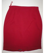 Womens Liz Claiborne Collection Suit Skirt Office Church Work 14 Red Nice - $24.00