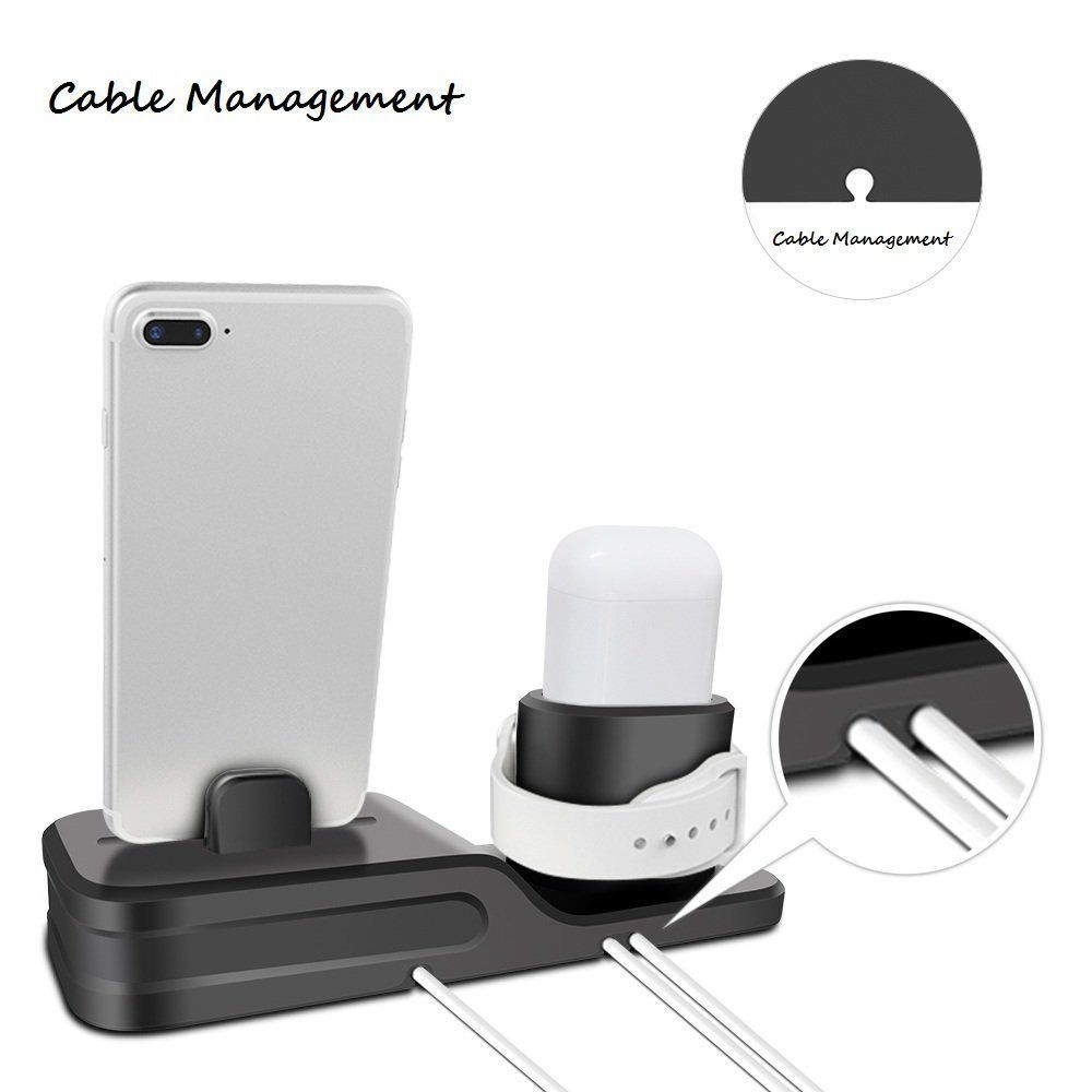 Apple Charging Dock 3 In 1 Docking Station Iphone X 5 6 8 7 Plus Watch Series 3 image 3