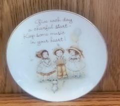 "American Greetings Lasting Treasures Music In Your Heart 4"" Plate Geniune Porcel - $7.99"