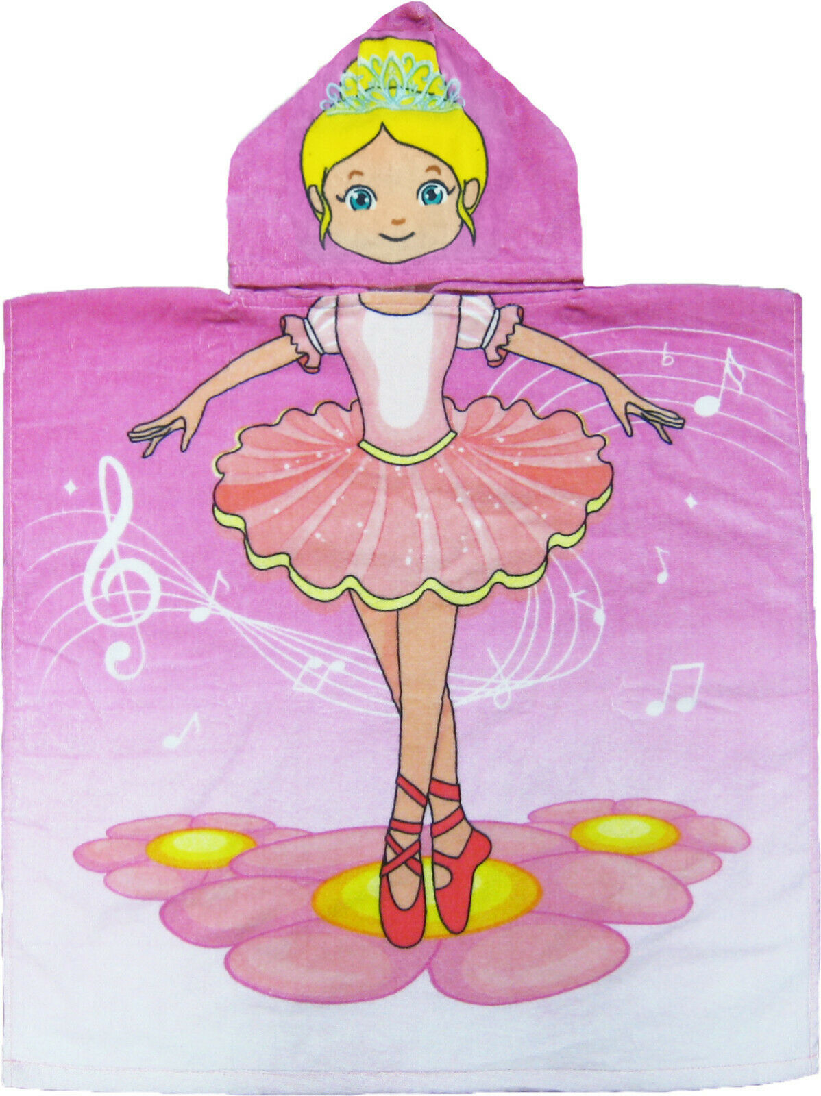 Primary image for Ballerina Hooded Beach Poncho Towel Kids Bath Costume Cotton Pool Cover Up Robe