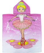 Ballerina Hooded Beach Poncho Towel Kids Bath Costume Cotton Pool Cover ... - $17.99