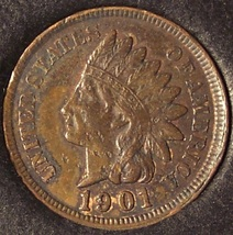 1901 Indian Head Cent XF #0071 - $8.79