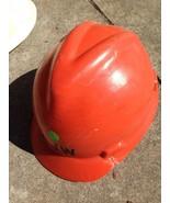 Retro Orange 1970s Hart Mütze von V-Gard Msa Passend Kopfgröße 6 1/2- 7 3/4 - $35.90
