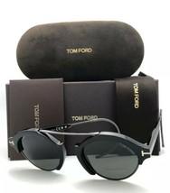 Tom Ford Sonnenbrille Farrah-02 Tf 631 01a 49-21 Schwarzer Rahmen Luftse... - $399.21