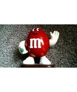 -175- M&M's Large Red Candy Peanut Dispenser, 1991 - $25.20