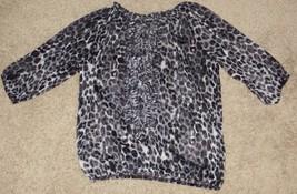 EUC Express Leopard Print Sheer Top Shirt Size XS X-Small - $2.99