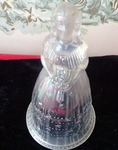 Vintage Imperial Glass Pink Carnival Iridescent Colonial Bride Bell - $24.75