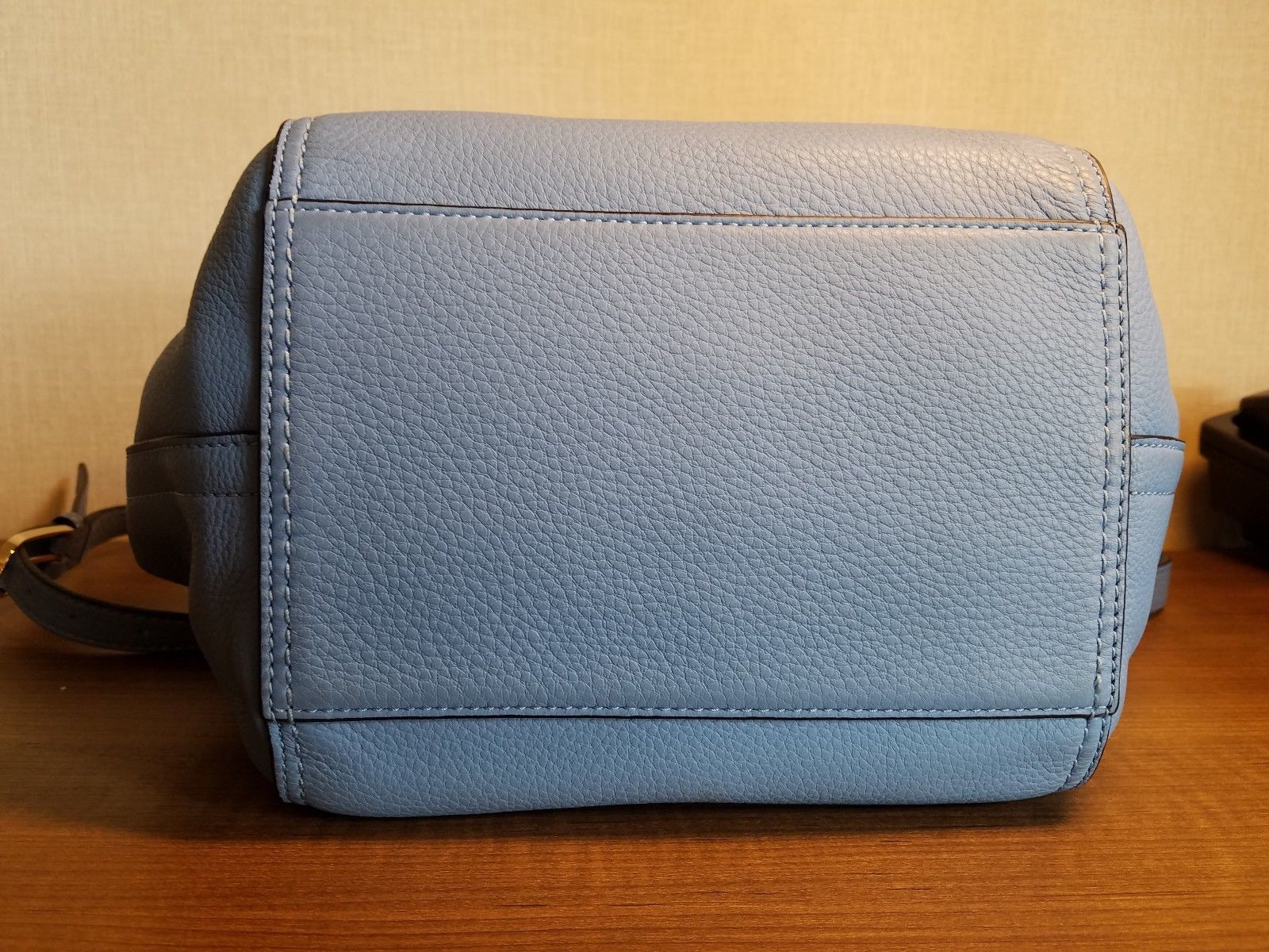 1b53bc8058e Tory Burch Half Moon Montego Blue Pebbled Leather Satchel Crossbody HandBag  NWOT