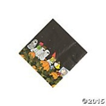 Peanuts Halloween Napkins Beverage 16 Count Paper Party Napkins - $12.13
