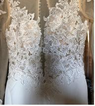New Style Elegant Mermaid Appliques Sexy Illusion Long Sleeve Lace Satin Bridal  image 5