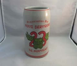Vtg RARE Army souvenir beer stein. Organization Day 23. Tanks design. Fr... - $24.99
