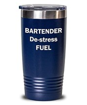 Bartender Tumbler De-Stress Fuel Insulated Double Wall Outdoor Travel Thermos Ap - $29.60