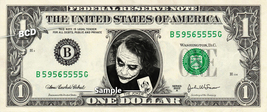 HEATH LEDGER Joker on REAL Dollar Bill Cash Money Bank Note Currency Dinero - $8.88