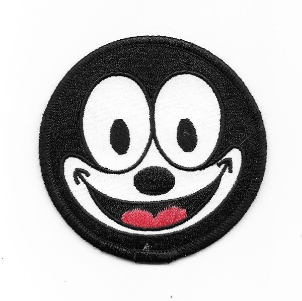 Primary image for Felix the Cat Smiling Face Animated Art Embroidered Circle Patch, NEW UNUSED