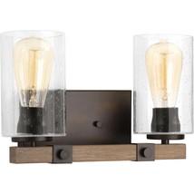 Bathroom Vanity Light 100-Watt Clear Glass Adjustable Shades Antique Bronze - $76.78