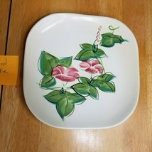 Red Wing Pottery Morning Glory Pink Salad Plate (1) 1940's MCM - $7.92
