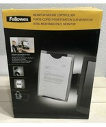 Fellowes Office Suites Monitor Mount Copyholder Plastic Holds 150 Sheets... - $18.90