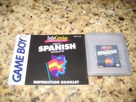 Nintendo Game Boy Gametek Infogenius SPANISH TRANSLATOR Berlitz & Instru... - $13.85