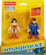 Imaginext DC Super Friends Superman & Wonder Woman - X7648 - NEW - $14.35