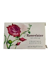 Crabtree & Evelyn Single Rosewater Triple Milled Soap Bar 3 Oz New in Box - $24.75
