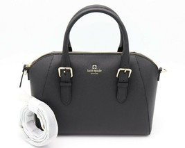 2ebe73a74c52 NWT Kate Spade New York Black Leather Cove Street Pippa Satchel Shoulder...  -