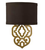 AF Lighting 8425-2W Brown Gold Foil Damask Laser Cut Wall Sconce Light - $29.69