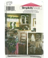 Simplicity Sewing Pattern 8106 Kitchen Accessories New - $6.99