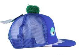 Neff Men's Blue Monster Snapback Baseball Pom Hat Cap NWT image 3