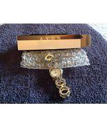 Avon Ladies Watch Womens Wristwatch NIB  2008  Silvertone Circles NEW 7-... - $10.00