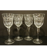 "Set of 4 ~Stunning Block Tulip Garden Wine Glassses  7-3/4"" - $49.99"
