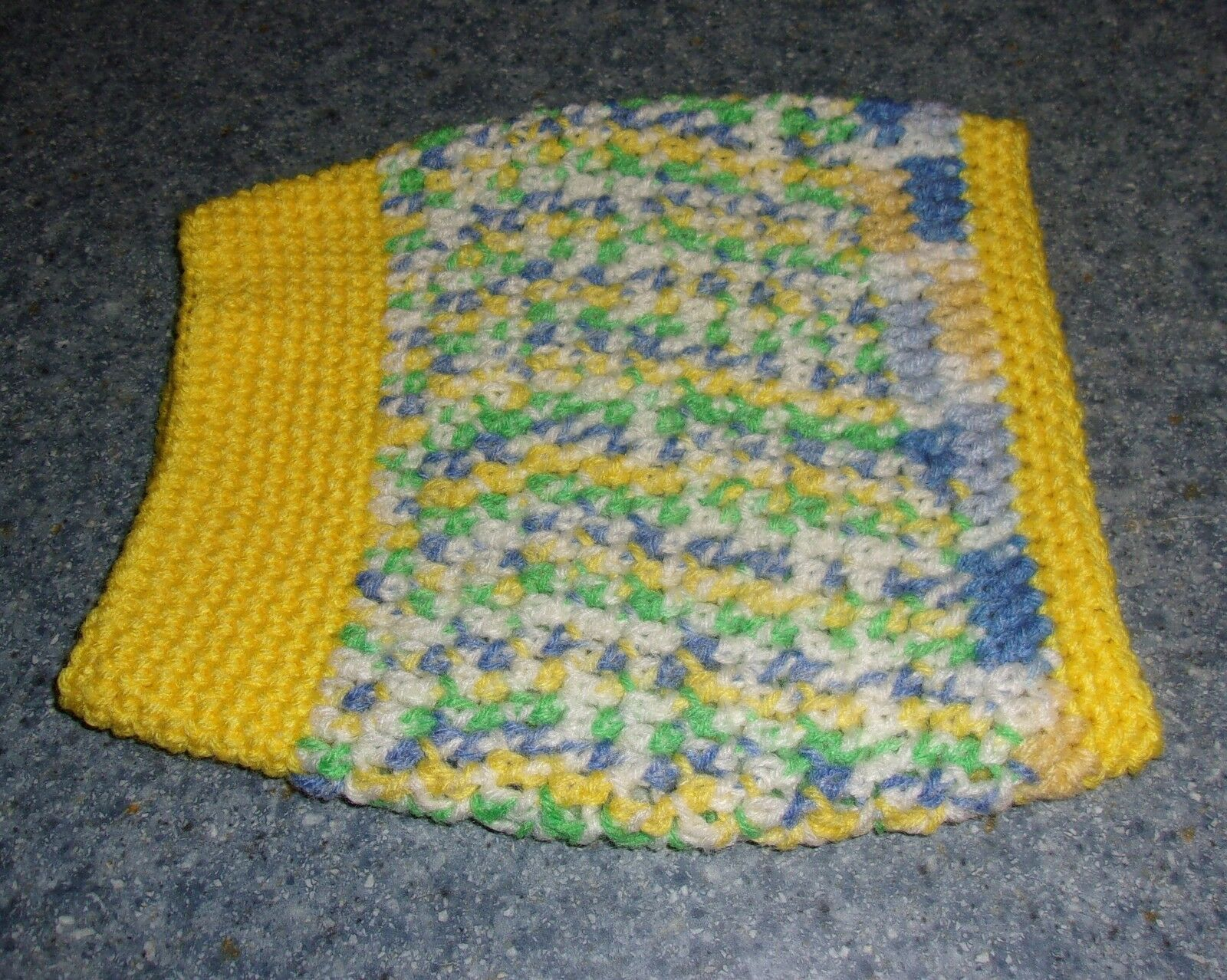 Brand New Hand Crocheted Yellow Dog Snood Neck Warmer For Dog Rescue Charity