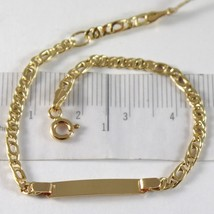 Bracelet En Or Jaune 750 18K, Perdrix Et Oculaires Tigre, Plaque Pour Gravure - $241.99