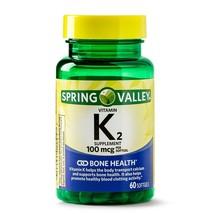 Spring Valley Vitamin K2 Softgels, 100 mcg, 60 Count.. - $21.99
